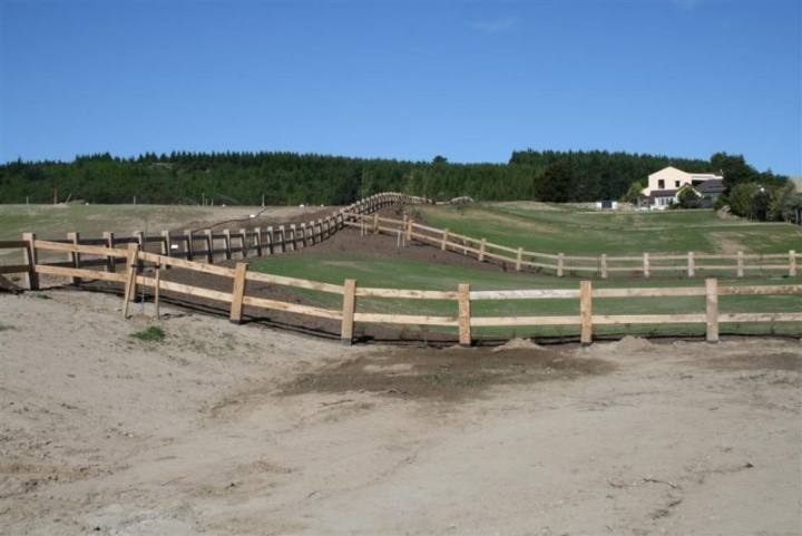 Large wooden fencing around the subdivision