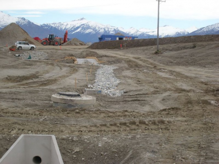 Stormwater diversion channel