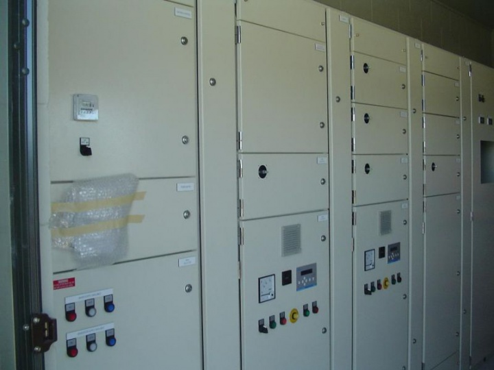 Control panels in pump house